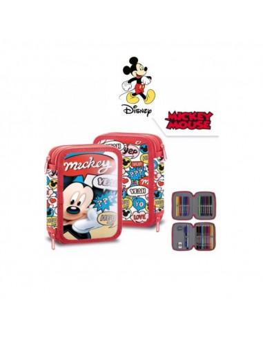 Plumier 2 cremalleras lleno de Mickey Mouse