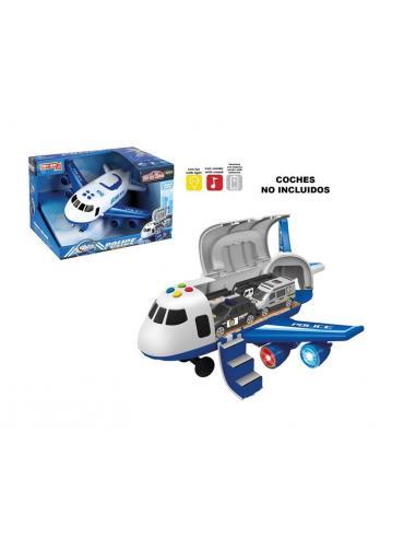 Avión azul con luz y sonido - Imagen 1