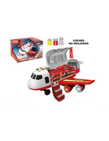 Avión rojo con luz y sonido - Imagen 1