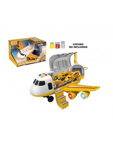 Avión amarillo con luz y sonido - Imagen 1