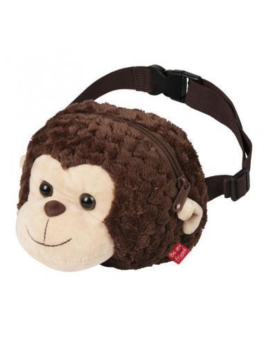 Bolso riñonera peluche con mono Liu - Imagen 1