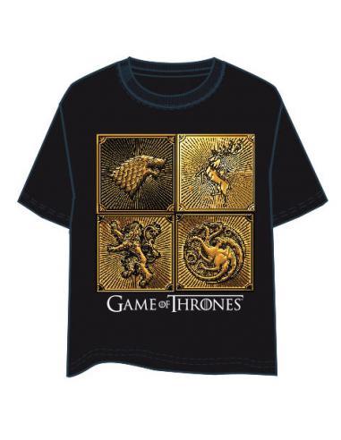Camiseta Logos Juego de Tronos adulto - Imagen 1