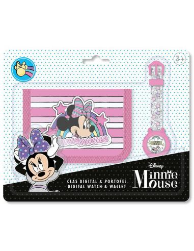 Set reloj digital y billetera de Minnie Mouse - Imagen 1