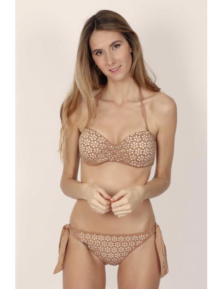 ADMAS Bikini Bandeau Push Up Sand Desert para Mujer - Imagen 1