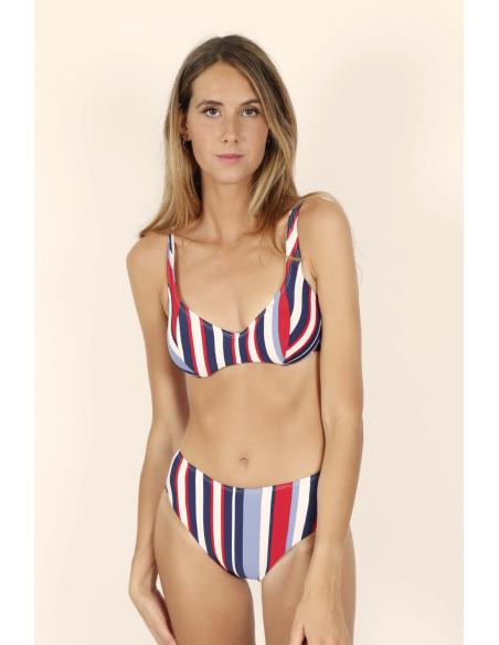 ADMAS Bikini Aro Elegant Stripes para Mujer - Imagen 1