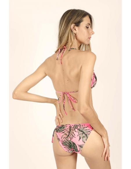 ADMAS Bikini Triangulo Volante Fluor Leaves para Mujer - Imagen 3