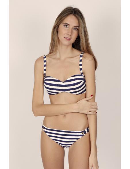 ADMAS Bikini Bandeau Push Up Sailor para Mujer - Imagen 1