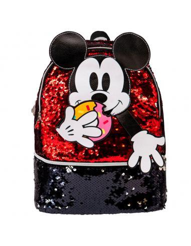 Mochila Donut Mickey Disney lentejuelas 32cm - Imagen 2