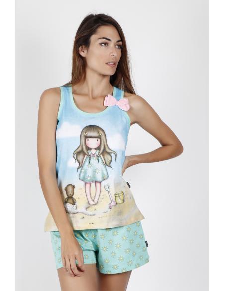 SANTORO Pijama Tirantes Hello Summer para Mujer - Imagen 1