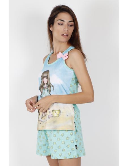 SANTORO Pijama Tirantes Hello Summer para Mujer - Imagen 2