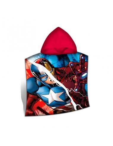 Poncho toalla playa algodón 120x60cm de Avengers (st24) - Imagen 1
