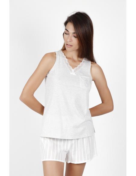 ADMAS CLASSIC Pijama Tirantes Luxe Stripes para Mujer - Imagen 2