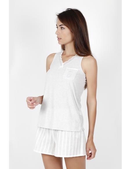 ADMAS CLASSIC Pijama Tirantes Luxe Stripes para Mujer - Imagen 3