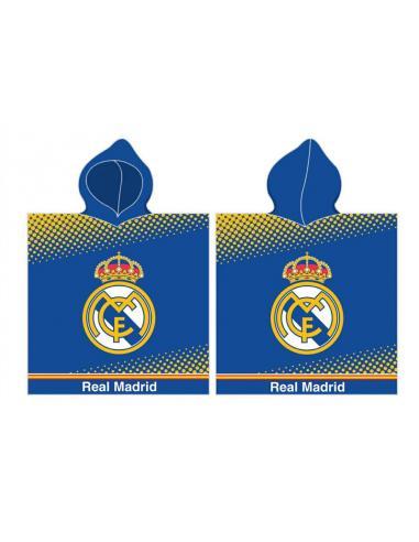 Toalla poncho playa algodón 55x110cm 290gr de Real Madrid (2/30) - Imagen 1