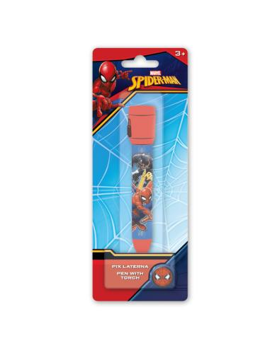 Boligrafo con linterna de Spiderman - Imagen 1
