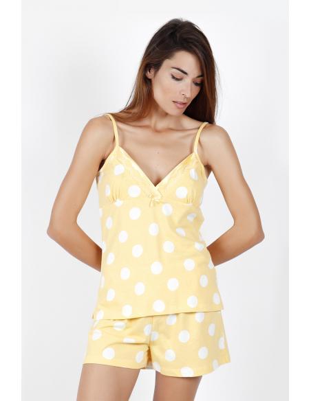 ADMAS CLASSIC Pijama Tirantes Summer Dots para Mujer - Imagen 1