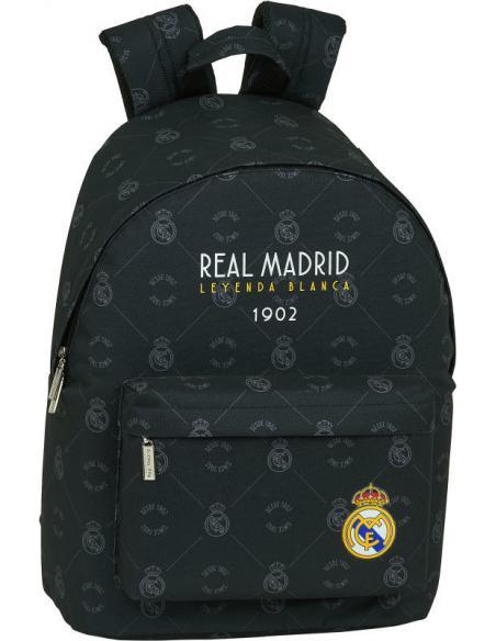 "Mochila para portatil 14,1"" de Real Madrid 'Black' - Imagen 1"