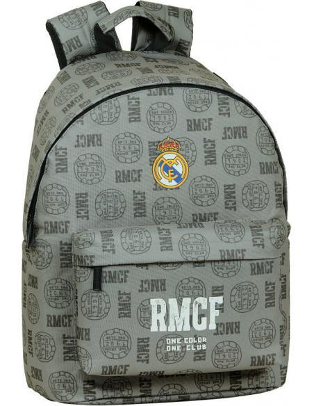 "Mochila para portatil 14,1"" de Real Madrid 'Grey' - Imagen 1"