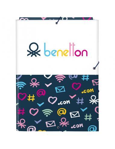 Carpeta folio de gomas y 3 solapas de Benetton 'Dot Com' - Imagen 1