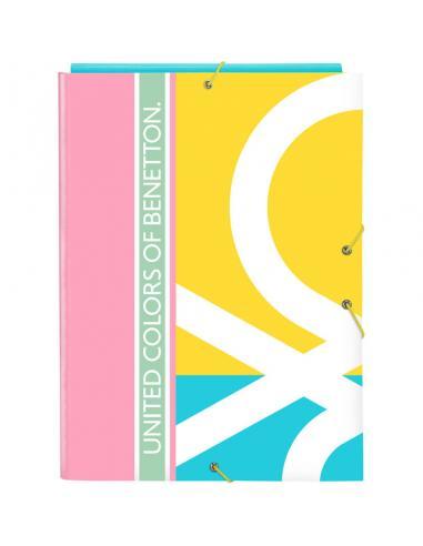 Carpeta folio de gomas y 3 solapas de Benetton 'Color Block' - Imagen 1