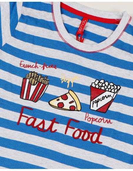 ADMAS Pijama Manga Corta Fast Food para Niña - Imagen 2
