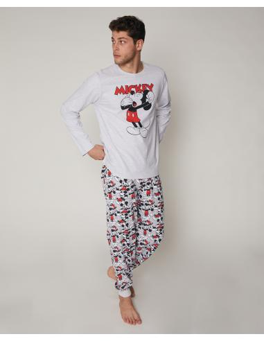 DISNEY Pijama Manga Larga Mickey para Hombre - Imagen 1