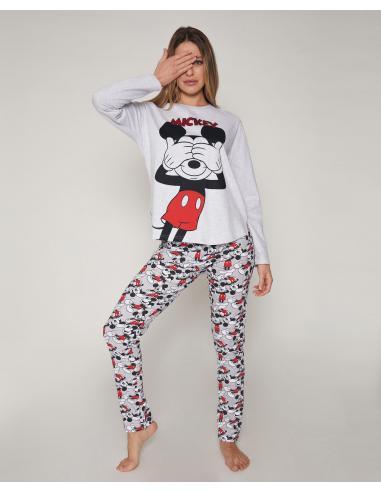 DISNEY Pijama Manga Larga Mickey para Mujer - Imagen 1