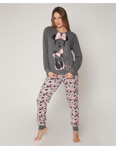 DISNEY Pijama Manga Larga Bowtiful Minnie para Mujer - Imagen 1