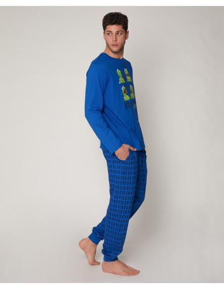 DISNEY Pijama Manga Larga Kermit Blue para Hombre - Imagen 2