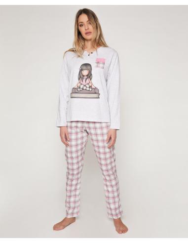 SANTORO GORJUSS Pijama Manga Larga The Words para Mujer - Imagen 1