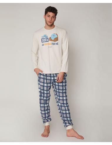 MR WONDERFUL Pijama Manga Larga Sofa para Hombre - Imagen 1