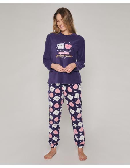 MR WONDERFUL Pijama Calentito Manga Larga Mi Cama y Yo para Mujer - Imagen 1