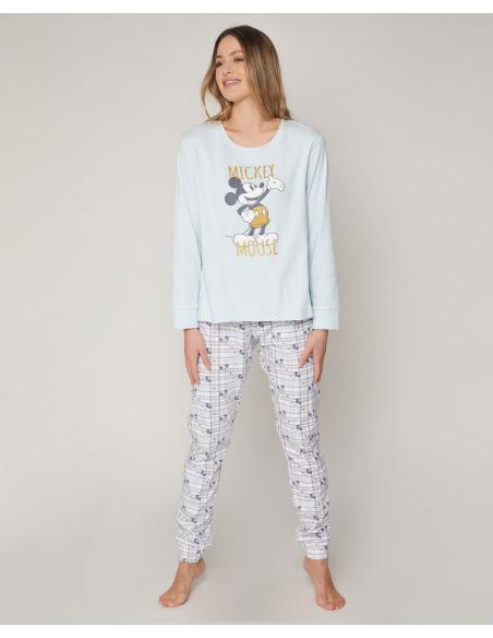 DISNEY Pijama Manga Larga Mickey Soft para Mujer - Imagen 1