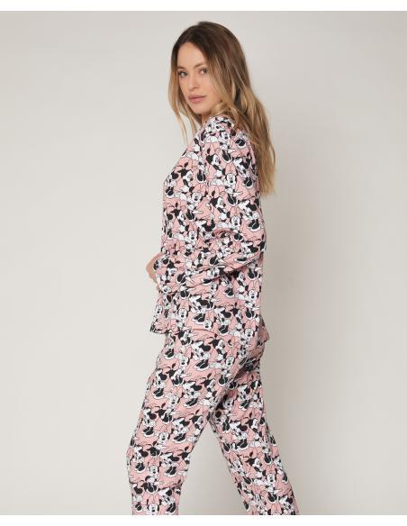 DISNEY Pijama Abierto Manga Larga Bowtiful Minnie para Mujer - Imagen 2