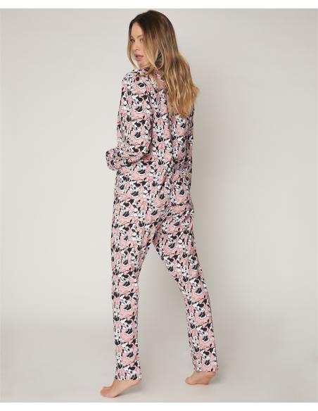 DISNEY Pijama Abierto Manga Larga Bowtiful Minnie para Mujer - Imagen 3
