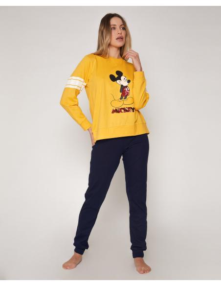 DISNEY Pijama Manga Larga Mickey Poses para Mujer - Imagen 1