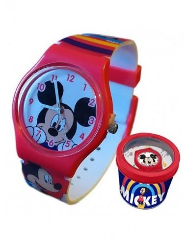 Reloj Analogico En Caja De Metal Mickey