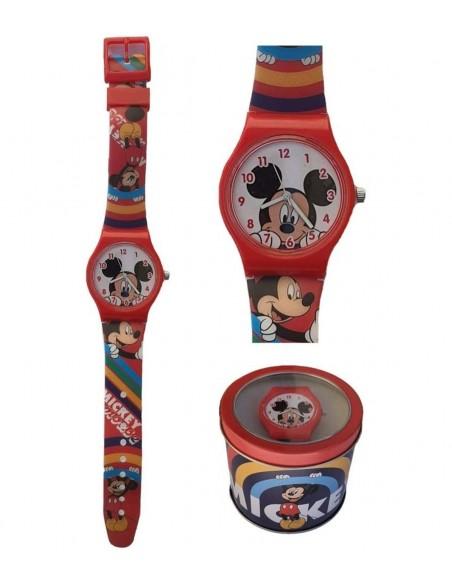 Reloj Analogico En Caja De Metal Mickey 2