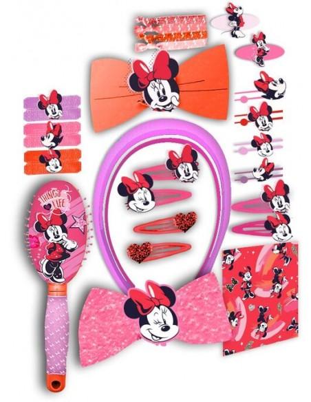 Set accesorios pelo 34 piezas de Minnie Mouse