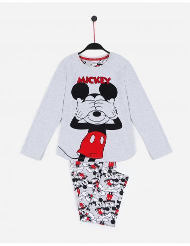 DISNEY Pijama Manga Larga Mickey para Niña - Imagen 1