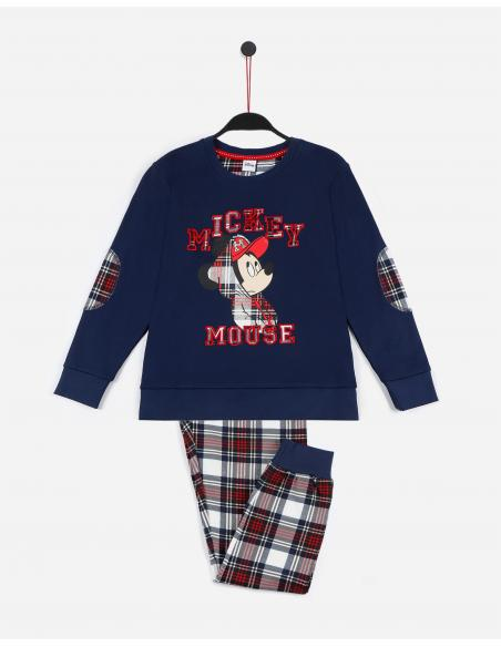 DISNEY Pijama Manga Larga Mickey College para Niña - Imagen 1