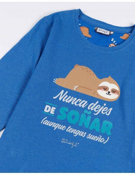 MR WONDERFUL Pijama Manga Larga Soñar para Niño - Imagen 2