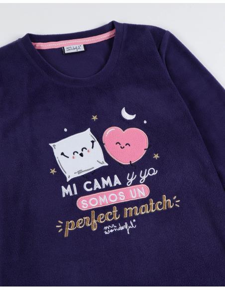 MR WONDERFUL Pijama Manga Larga Mi Cama y Yo para Niña - Imagen 2