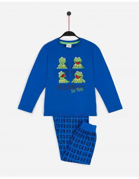 DISNEY Pijama Manga Larga Kermit Blue para Niño - Imagen 1