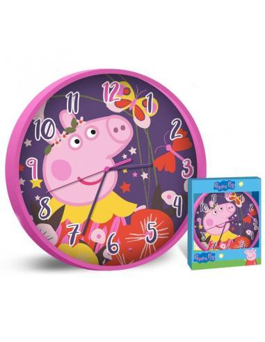 Reloj pared 25cm de  Peppa Pig (st12) - Imagen 1