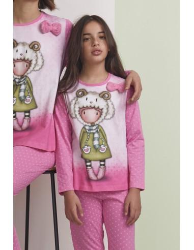 SANTORO GORJUSS Pijama Manga Larga Lambkins para Niña
