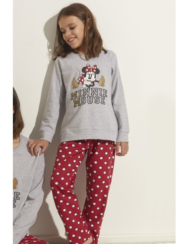 DISNEY Pijama Manga Larga Minnie Gold para Niña