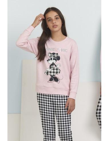 DISNEY Pijama Manga Larga Minnie Chic para Niña