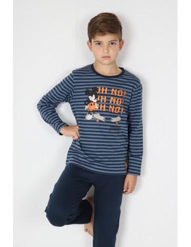 DISNEY Pijama Manga Larga Mickey Rollin para Niño