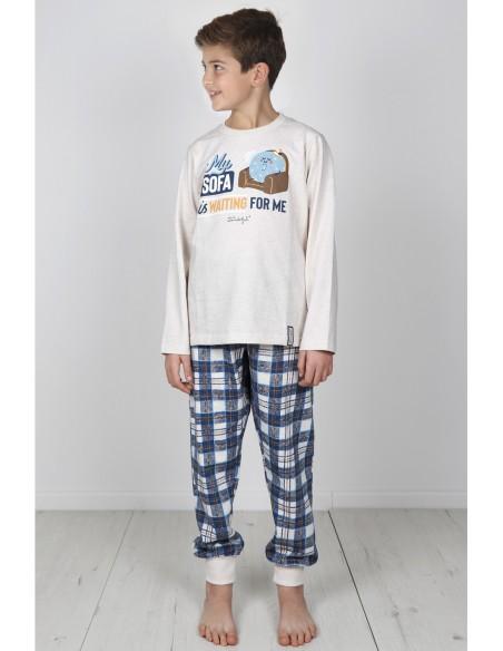 MR WONDERFUL Pijama Manga Larga Sofa para Niño